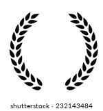 vector black laurel wreaths on... | Shutterstock .eps vector #232143484
