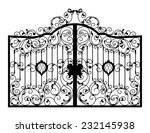 forged gate. architecture... | Shutterstock . vector #232145938