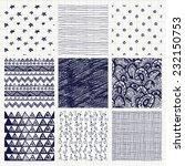 set of nine abstract pen... | Shutterstock .eps vector #232150753