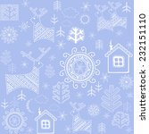 winter retro print. raster copy | Shutterstock . vector #232151110