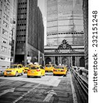 yellow cabs on park avenue in... | Shutterstock . vector #232151248