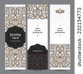 vintage ornate cards in... | Shutterstock .eps vector #232154773