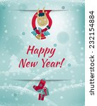 2015 happy new year greeting...   Shutterstock .eps vector #232154884