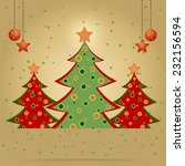 christmas card with decorated... | Shutterstock .eps vector #232156594