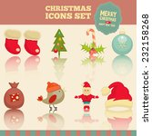 christmas set   icons in... | Shutterstock .eps vector #232158268