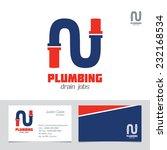 plumbing business sign  ... | Shutterstock .eps vector #232168534
