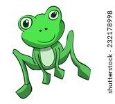 cute little green frog sitting... | Shutterstock .eps vector #232178998
