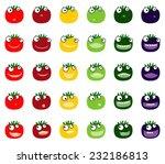 tomato vector smileys | Shutterstock .eps vector #232186813