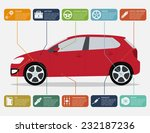 infographic template with car... | Shutterstock . vector #232187236