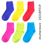 woman colorful socks on pure... | Shutterstock . vector #232189519
