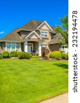 luxury house against blue sky... | Shutterstock . vector #232194478