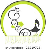 cheerful cat and girl... | Shutterstock . vector #23219728