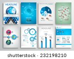 set of flyer design  web... | Shutterstock .eps vector #232198210