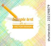 Sketch Pencil Drawing. Vector...