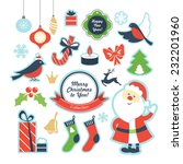 christmas objects collection | Shutterstock .eps vector #232201960