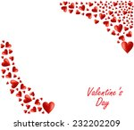 valentine's day background.  | Shutterstock .eps vector #232202209
