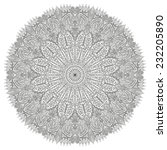 beautiful circular pattern with ... | Shutterstock .eps vector #232205890