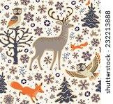 winter forest background.... | Shutterstock .eps vector #232213888