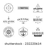 set of retro vintage nautical... | Shutterstock .eps vector #232220614