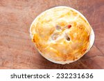 savoury turkey pot pie with... | Shutterstock . vector #232231636