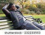 young business man relaxing in... | Shutterstock . vector #232233553