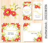 wedding invitation cards with... | Shutterstock .eps vector #232238356
