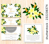 wedding invitation cards with... | Shutterstock .eps vector #232238374