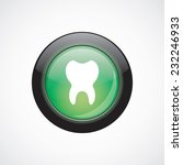 tooth glass sign icon green...