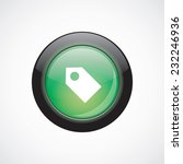 tag sign icon green shiny...