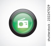 radio sign icon green shiny...