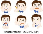 cute guy emoticons | Shutterstock .eps vector #232247434