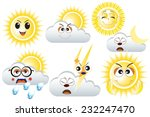 weather forecast emoticons  ... | Shutterstock .eps vector #232247470