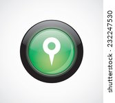 map pin sign icon green shiny...