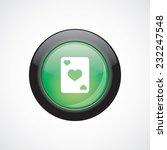 poker sign icon green shiny...