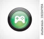 joystick sign icon green shiny...