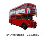 classic london bus isolated... | Shutterstock . vector #2322587