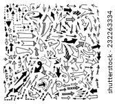 doodle arrow  | Shutterstock .eps vector #232263334