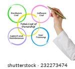 total cost of ownership | Shutterstock . vector #232273474