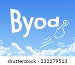 byod message cloud shape  | Shutterstock . vector #232279513