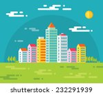 building in city   vector... | Shutterstock .eps vector #232291939
