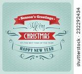 retro christmas illustration  ... | Shutterstock .eps vector #232292434