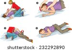recovery position  first aid . | Shutterstock .eps vector #232292890