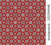 sindhi red ajrak pattern | Shutterstock .eps vector #232294948