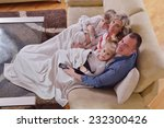 hapy young family have fun ... | Shutterstock . vector #232300426