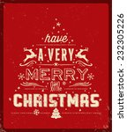 red christmas greeting card | Shutterstock .eps vector #232305226