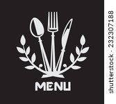 menu design with knife  fork... | Shutterstock .eps vector #232307188
