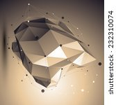 abstract 3d structure polygonal ... | Shutterstock .eps vector #232310074