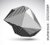 multifaceted asymmetric... | Shutterstock .eps vector #232310089