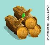 firewood. vector illustration.
