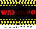 warning dirty blood background | Shutterstock .eps vector #232313590